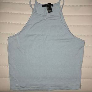 Forever 21 baby blue halter top